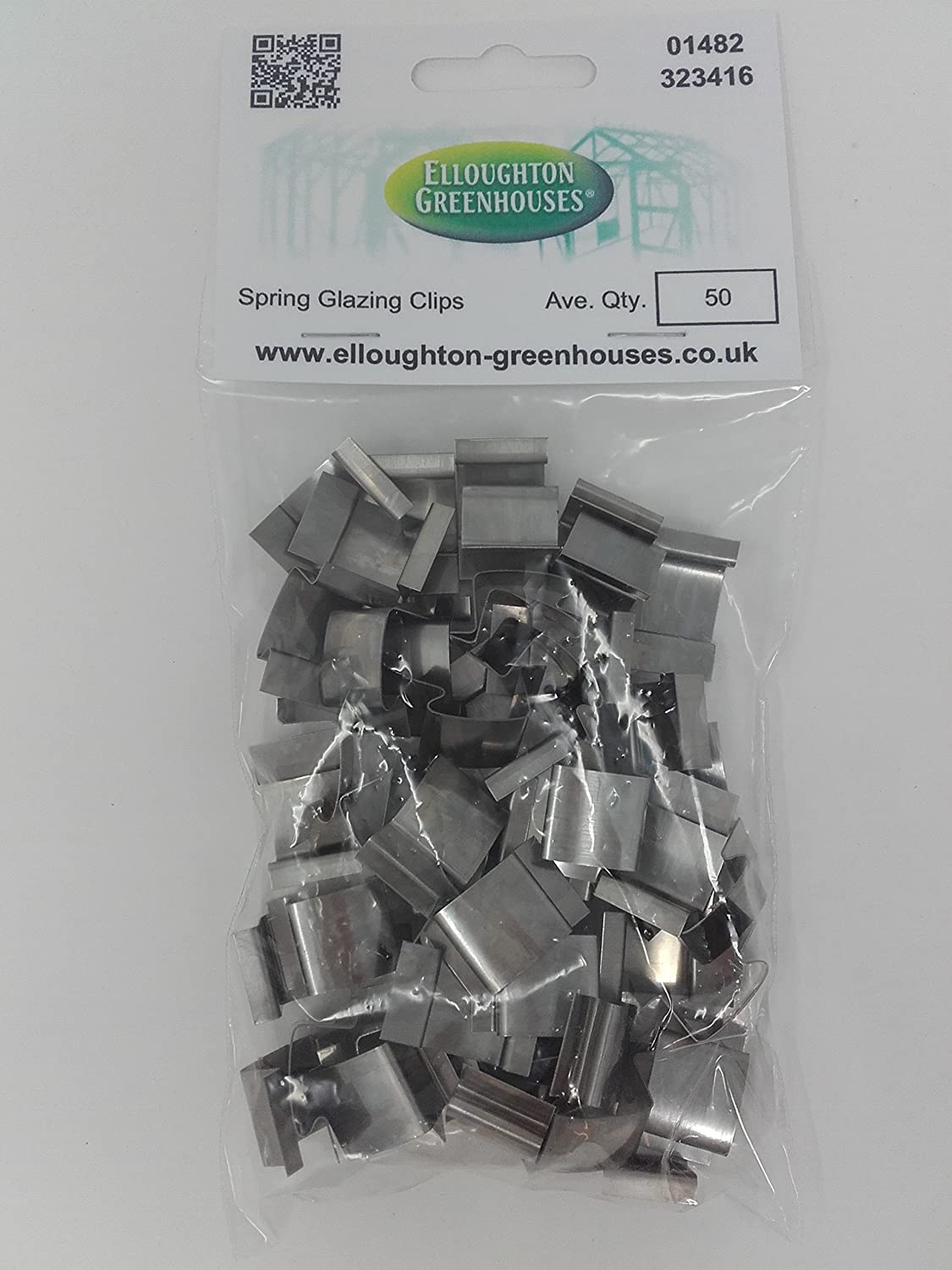 50 Stainless Steel Spring Greenhouse Glazing Clips Genuine Elite Greenhouses parts Elloughton Greenhouses® 50 G Clips