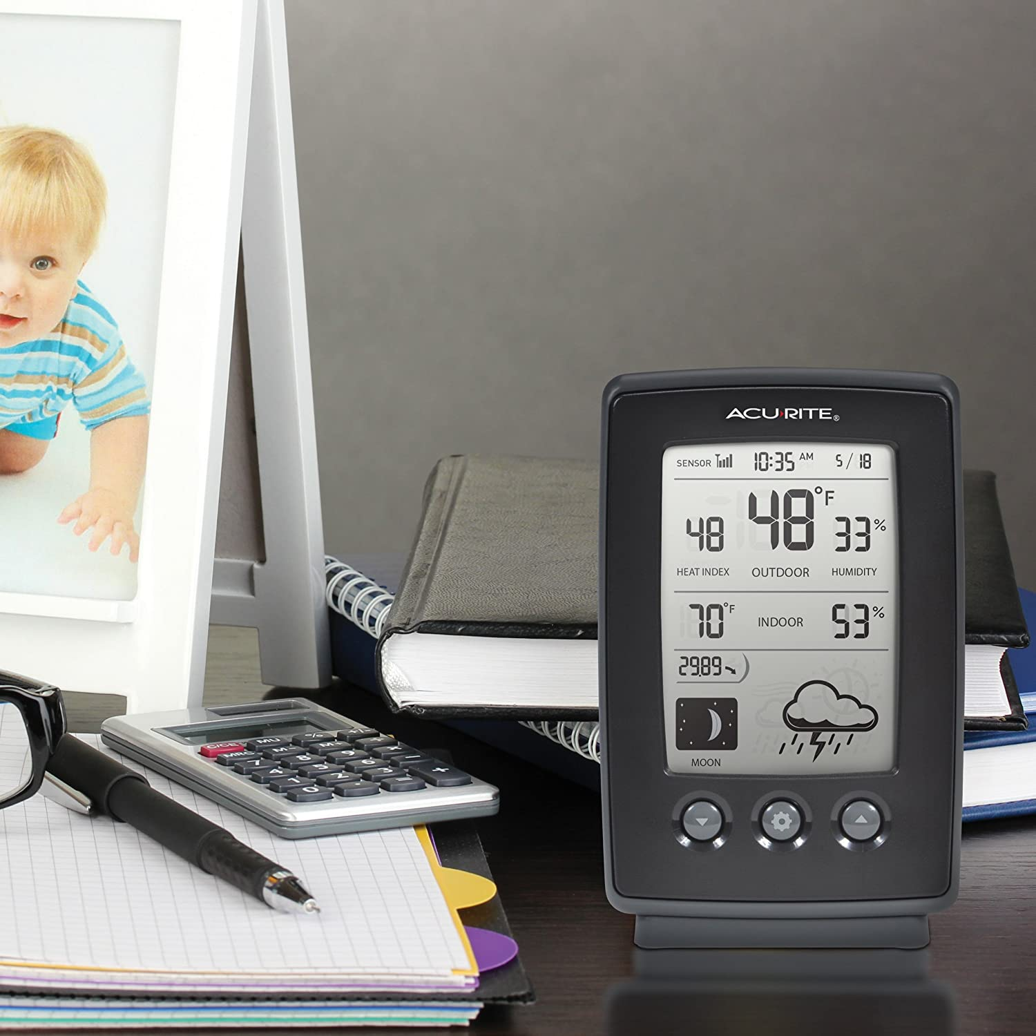 amazon com acurite 00829 digital weather station with forecast