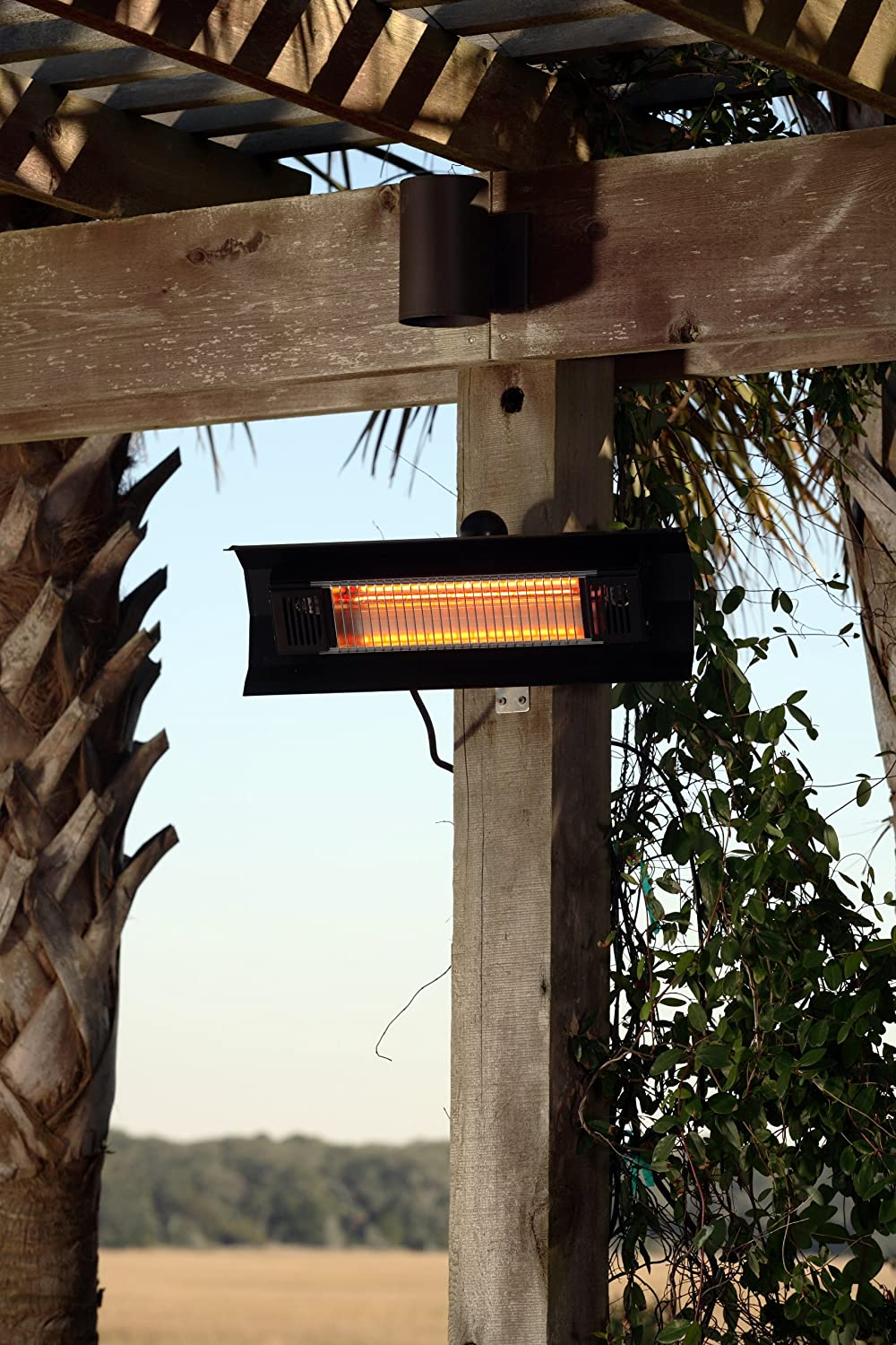 hanging patio heater. Amazon.com : Fire Sense Indoor/Outdoor Wall-Mount Infrared Heater, Black Portable Outdoor Heating Garden \u0026 Hanging Patio Heater E