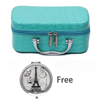 8906742606 Buy Store2508® Small Travel Vanity Cosmetic Toiletry Makeup Bag Box  Organiser With Free Magnifying Compact Makeup Mirror. (Blue) Online at Low  Prices in ...