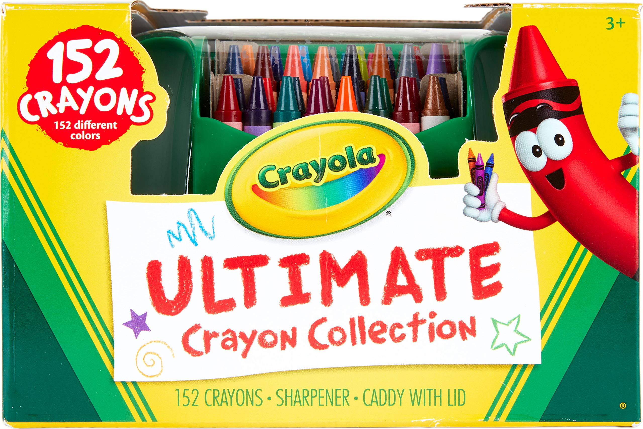 Crayola Ultimate Crayon Collection, 152 Pieces, Coloring Supplies, Styles May Vary, Gift by Crayola