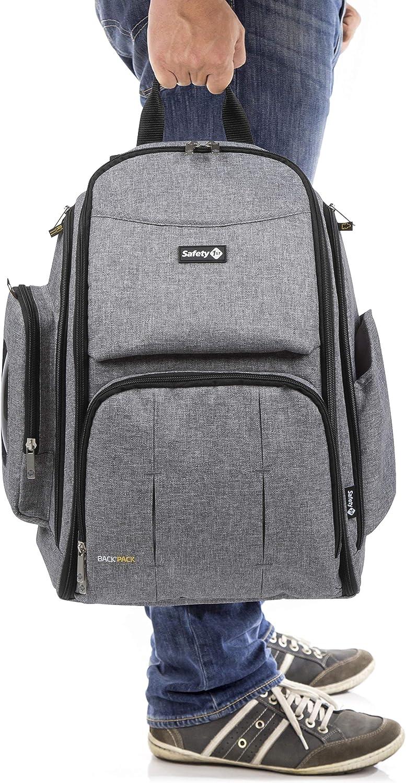 Bolsa de Pa/ñales para Beb/és Safety 1st Back Pack Mochila de Pa/ñales Gran Capacidad y Vers/átil color Black Chic