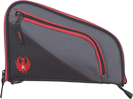 """New Allen Ruger Tucson Handgun Case 27408 Fits Handguns up to 8/"""" Red//Gray"""