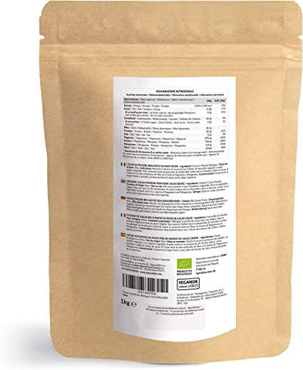 Cacao Ecológico en Polvo 1 Kg. Organic Cacao Powder. 100% Bio ...