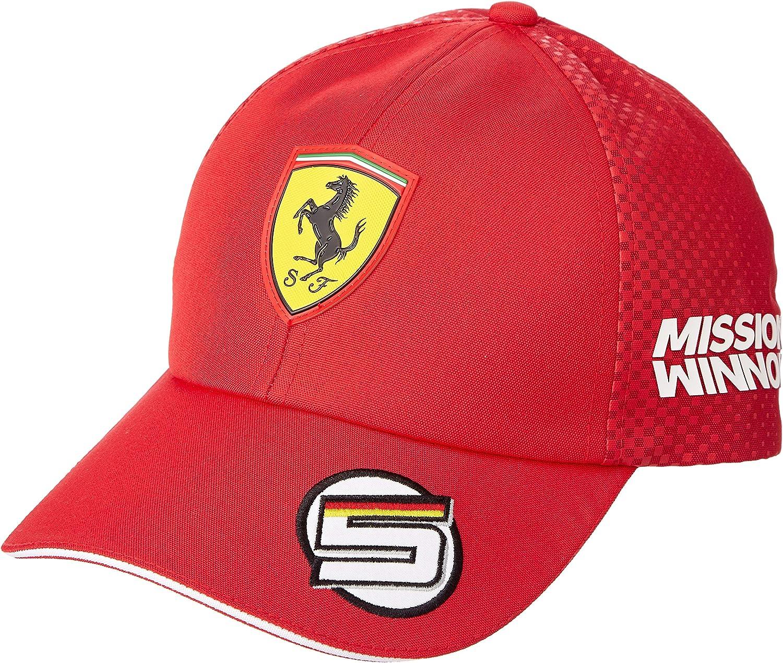 Puma Scuderia Ferrari Sebastian Vettel Cap Kappe 2019 Puma Rot Amazon De Bekleidung