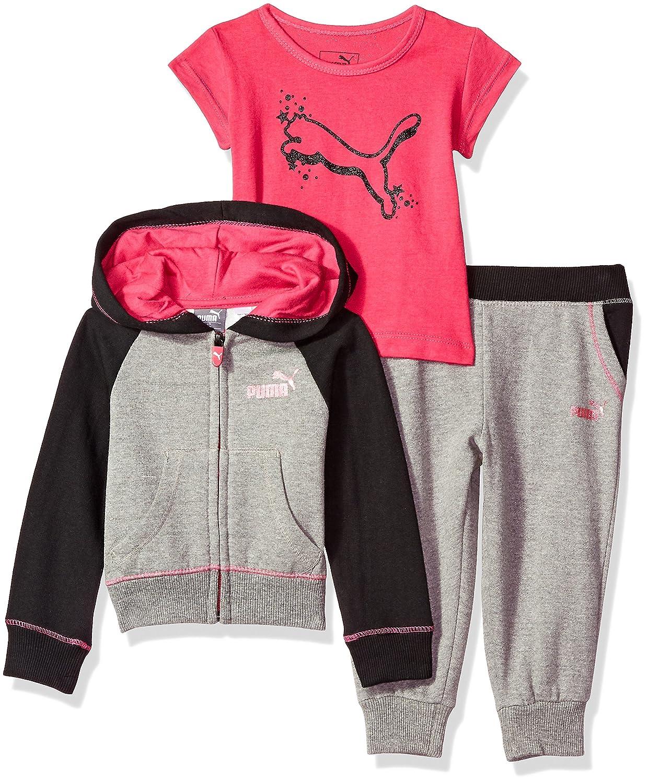 ca742f7b32e33 Amazon.com: PUMA Baby Girls' Three Piece Hoodie, Pant and Tee Set ...