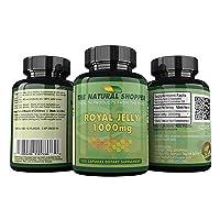 Royal Jelly 1000mg 100 caps - Fresh Premium Grade USA Royal Jelly Powder in a Capsule