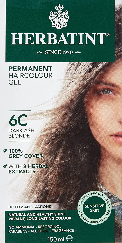 Herbatint - Tinte permanente para cabello (número 6C, 150 ml), color rubio