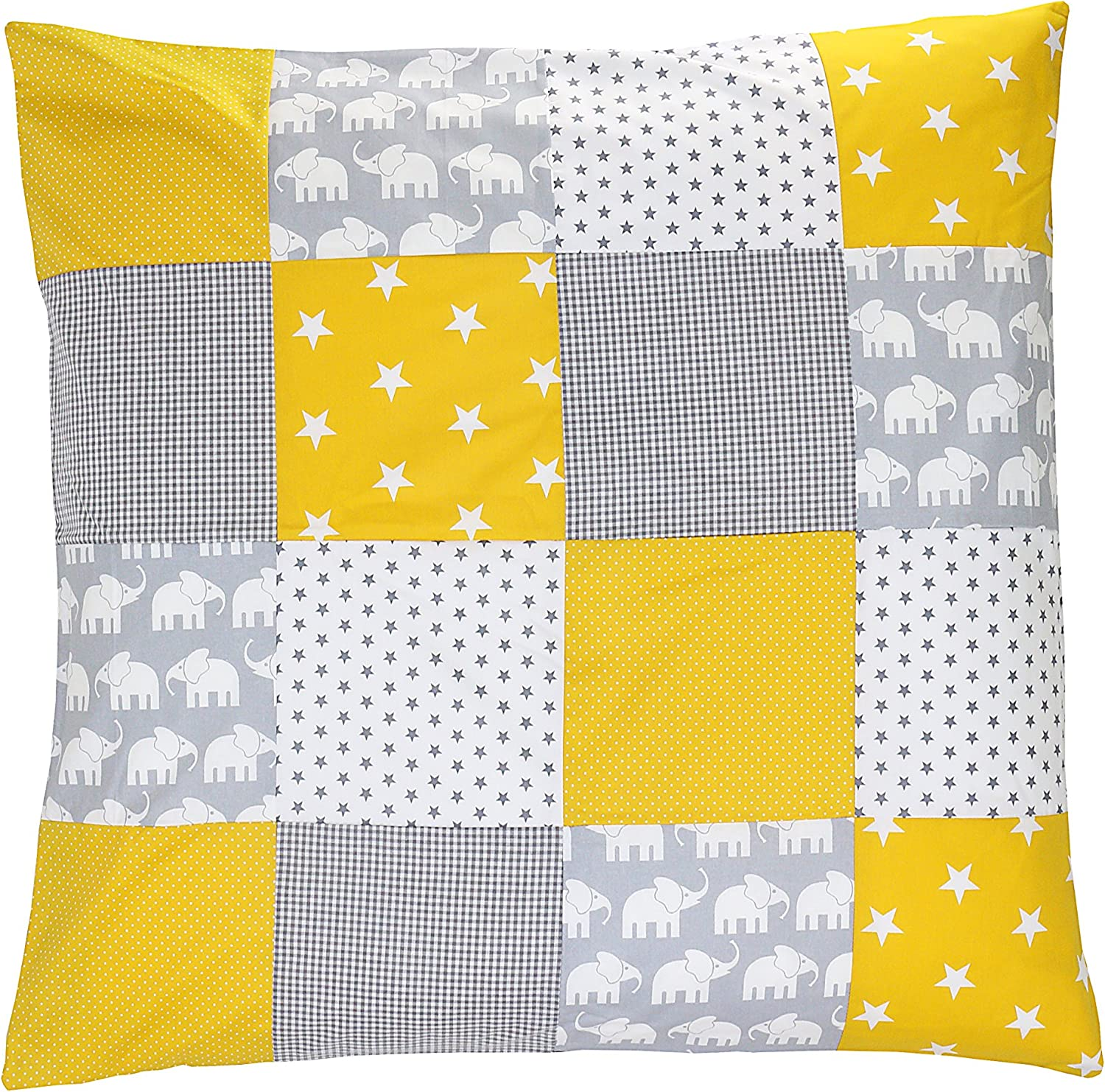 80 x 80 cm can Also be Used on pram Blankets or Decorative Cushions; Motifs: Anchors, Stars ULLENBOOM//® Baby Quilt Cover Blue Light Blue Grey