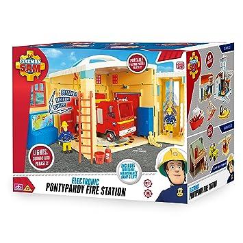 Fireman Sam 05958 - Estación de Bomberos electrónica de Juguete, diseño de Sam y Pontypandy