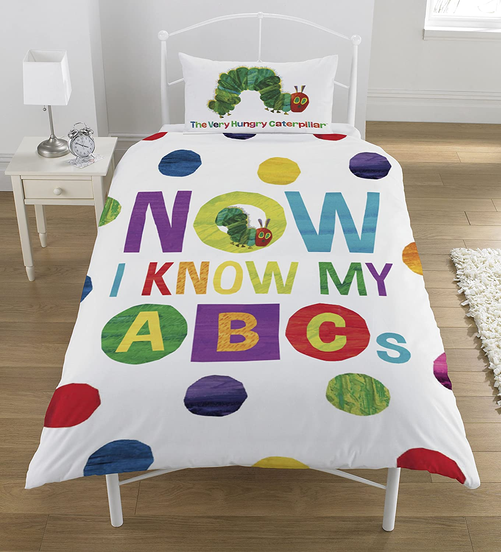 The Very Hungry Caterpillar ABCs Single Duvet Set Polyester-Cotton Multicolour