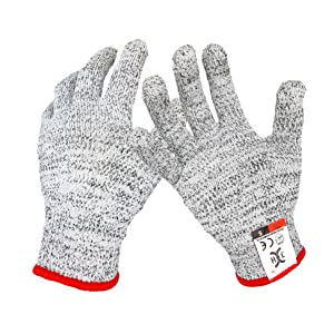 C0122SO Cut Resistant Gloves - High Performance Cut Level 5, Food Grade Cut Gloves, 1 Pair Small