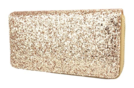 Cartera para mujer bolso completo strass in nude