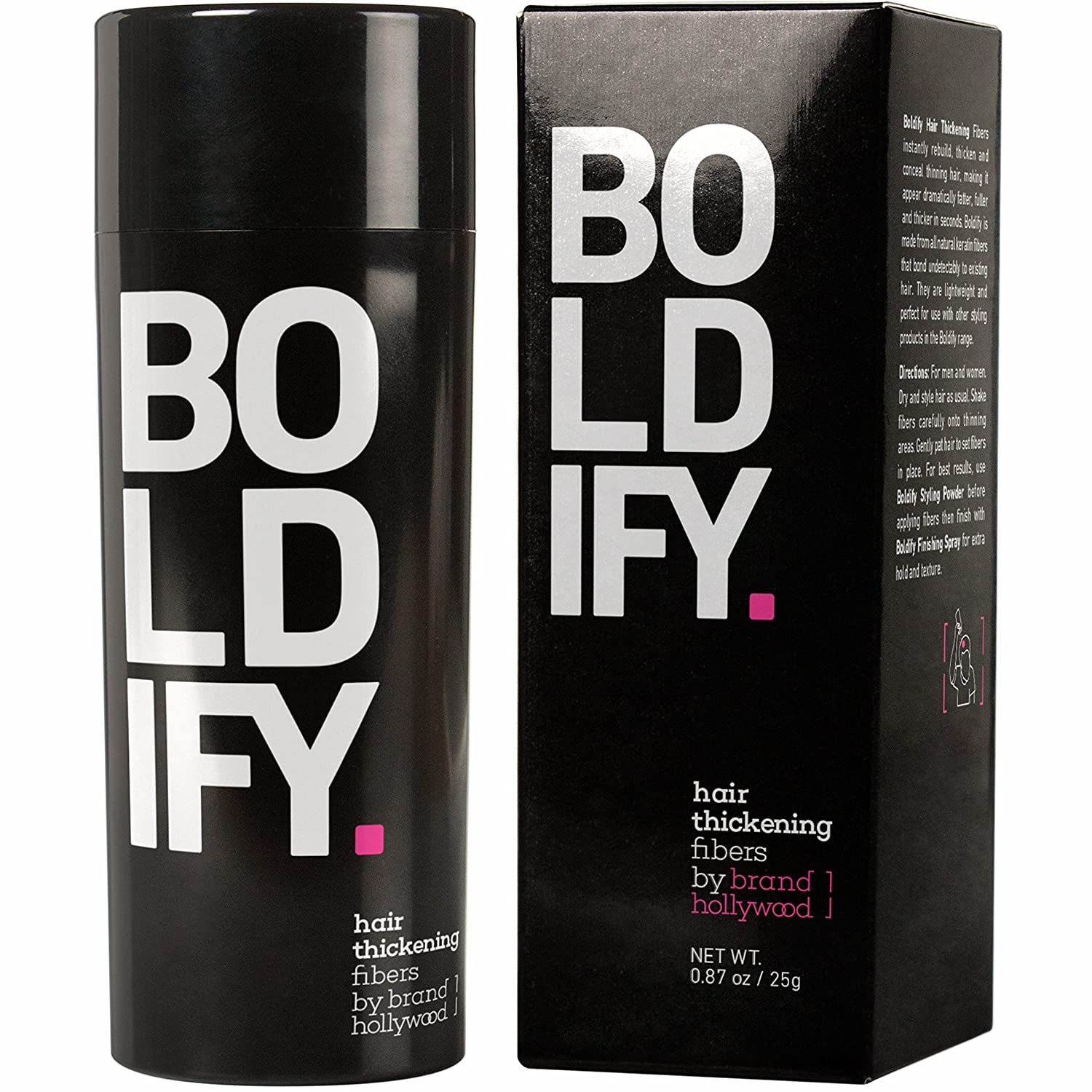 BOLDIFY Hair Fibers for Thinning Hair - 100% Undetectable Keratin Fibers - Giant 25g Bottle - Completely Conceals Hair Loss in 15 Seconds (Light Blonde) Brand Hollywood