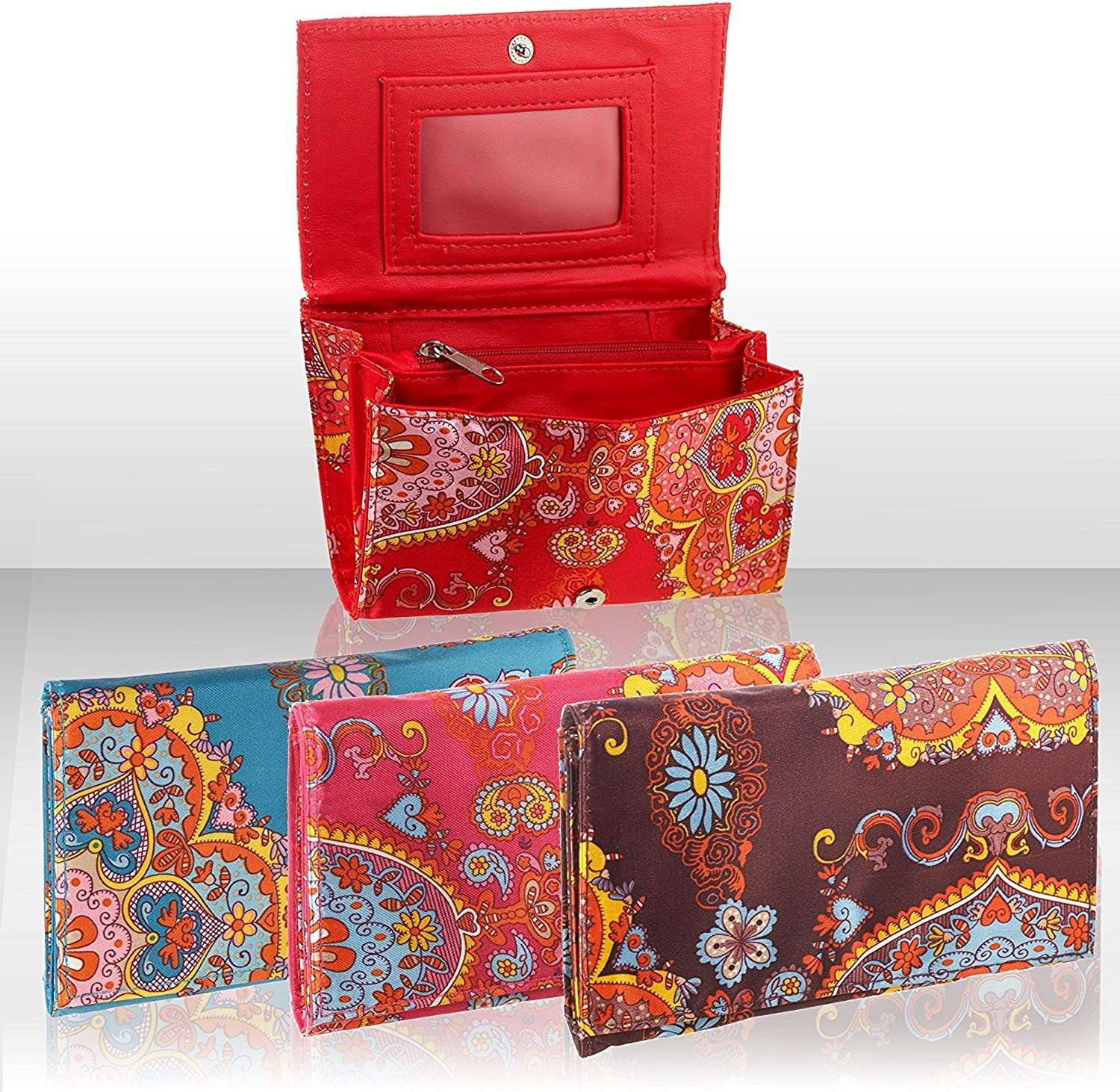 *CHOOSE FROM 5 COLOURS* Oriental Design MINI Zip Popper Pouch Coin Purse