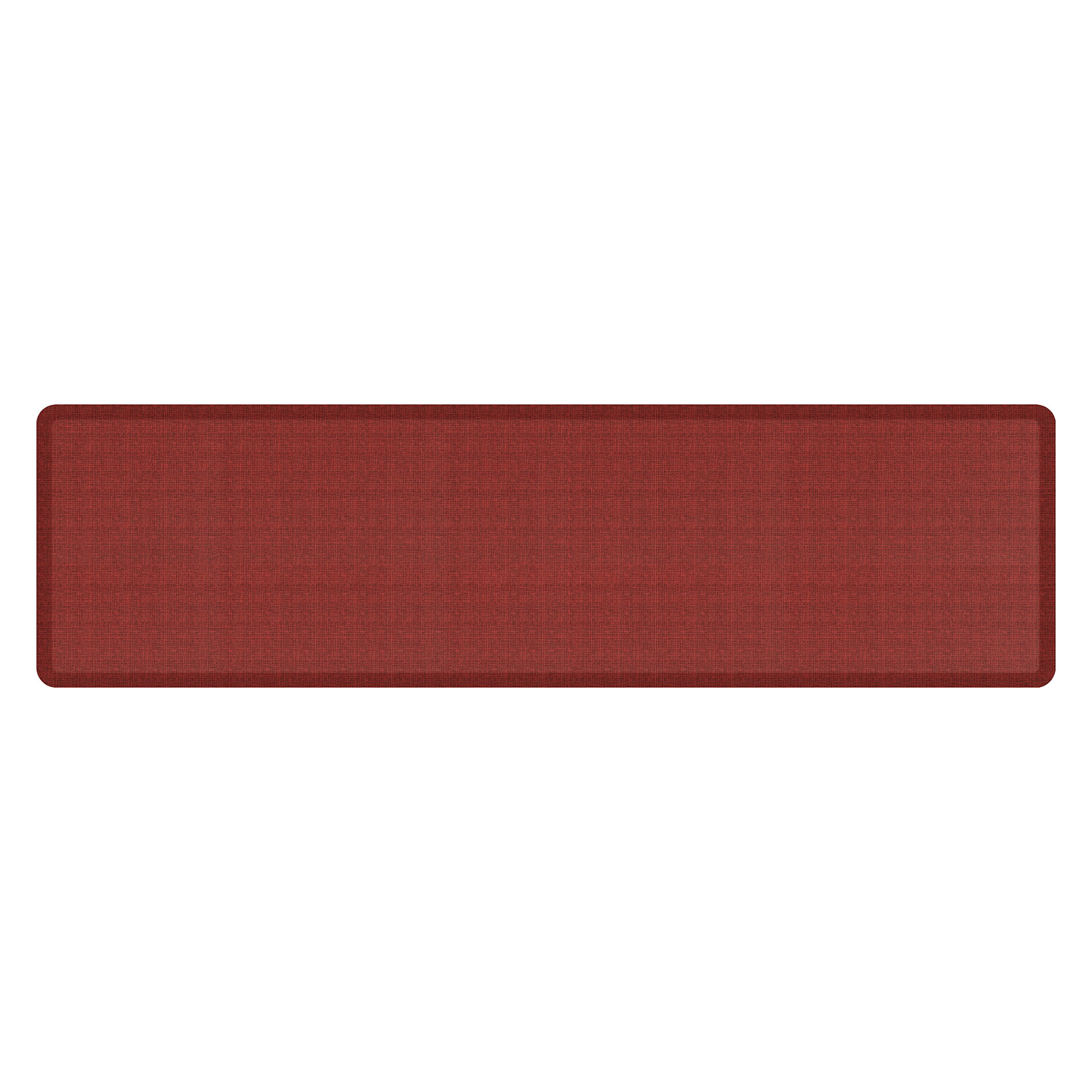 """NewLife by GelPro Anti-Fatigue Designer Comfort Kitchen Floor Mat, 30x108'', Tweed Barn Red Stain Resistant Surface with 3/4"""" Thick Ergo-foam Core for Health and Wellness"""