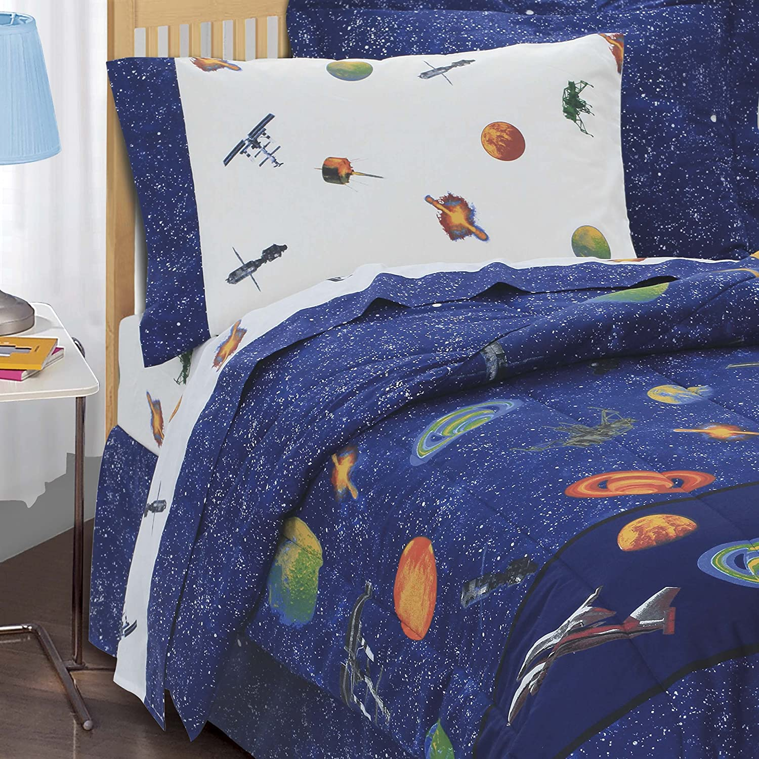 Amazon Dream Factory Outer Space Satellites Boys forter Set