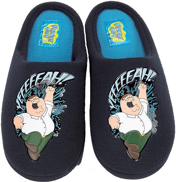 75aa5285b91017 Mens Family Guy Slippers - Peter Griffin Yeeeeeah! (7-8 UK): Amazon ...