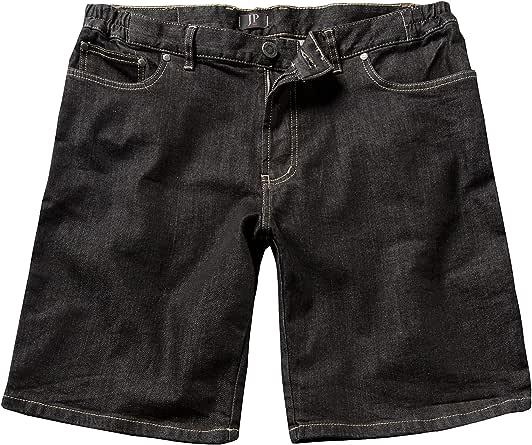 JP 1880 Men's Big & Tall Denim Bermuda Shorts Black 58
