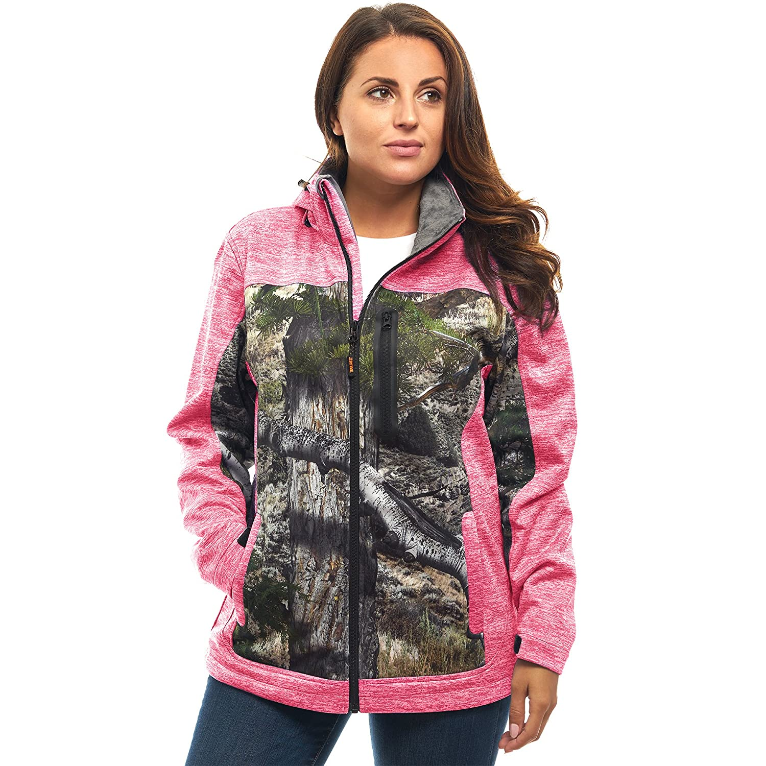 TrailCrest OUTERWEAR レディース B0749CNGG6 L|Pink Heather Mountain CountryTM Pink Heather Mountain CountryTM L