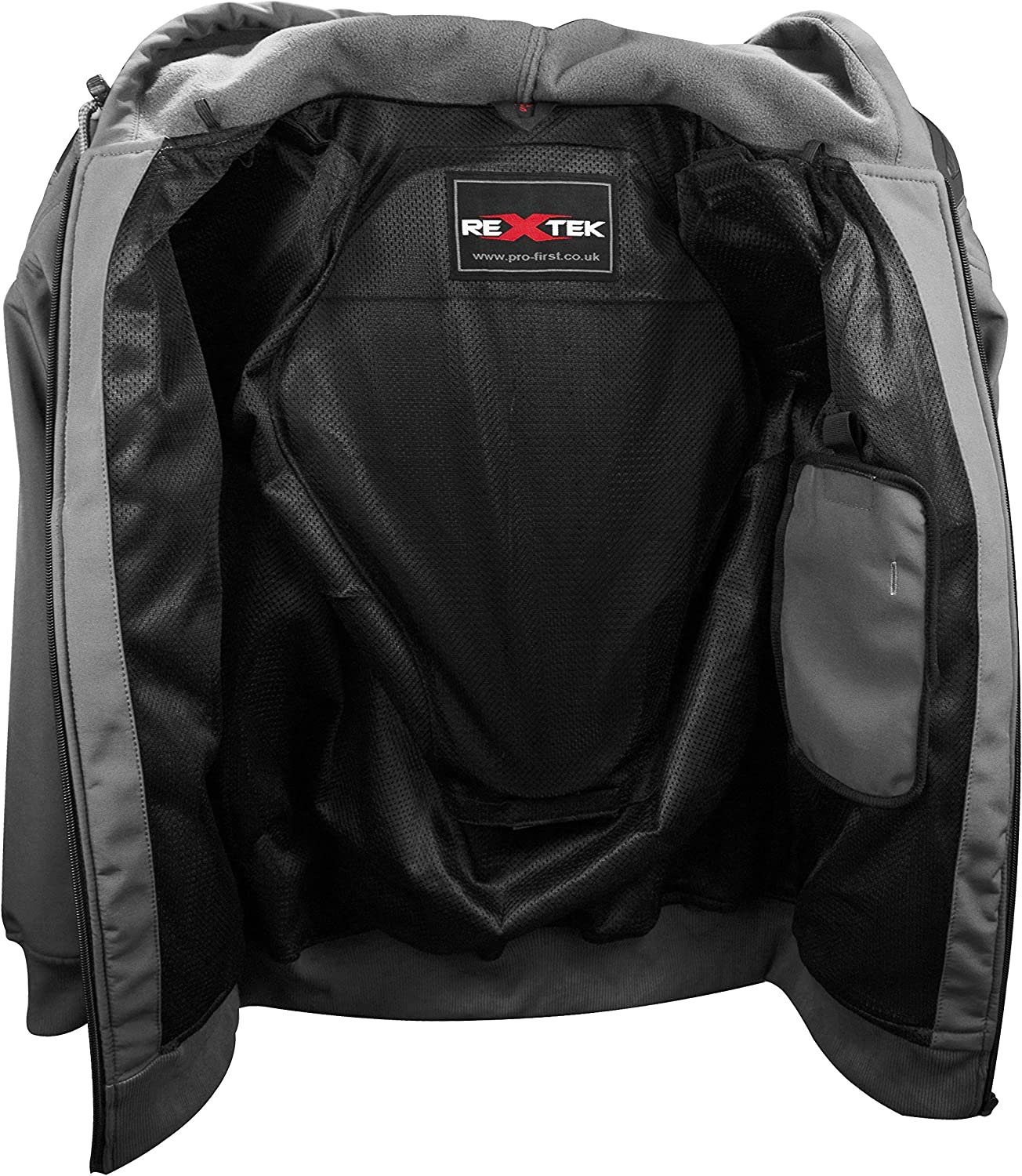 Motorbike Protective Hoodie Motorcycle Fully Armoured Jacket Soft Shell with Removable Protectors Mesh Lining X-large