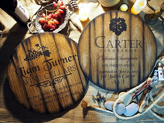 Amazoncom Personalized Decor Sign Inspired By Wine Barrel Tops