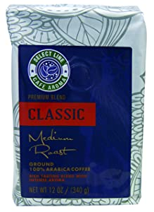 Bold Classic Blend Roasted Ground Coffee - 12 oz Bag, from Aroma Select, Premium, Gourmet Ground Coffee
