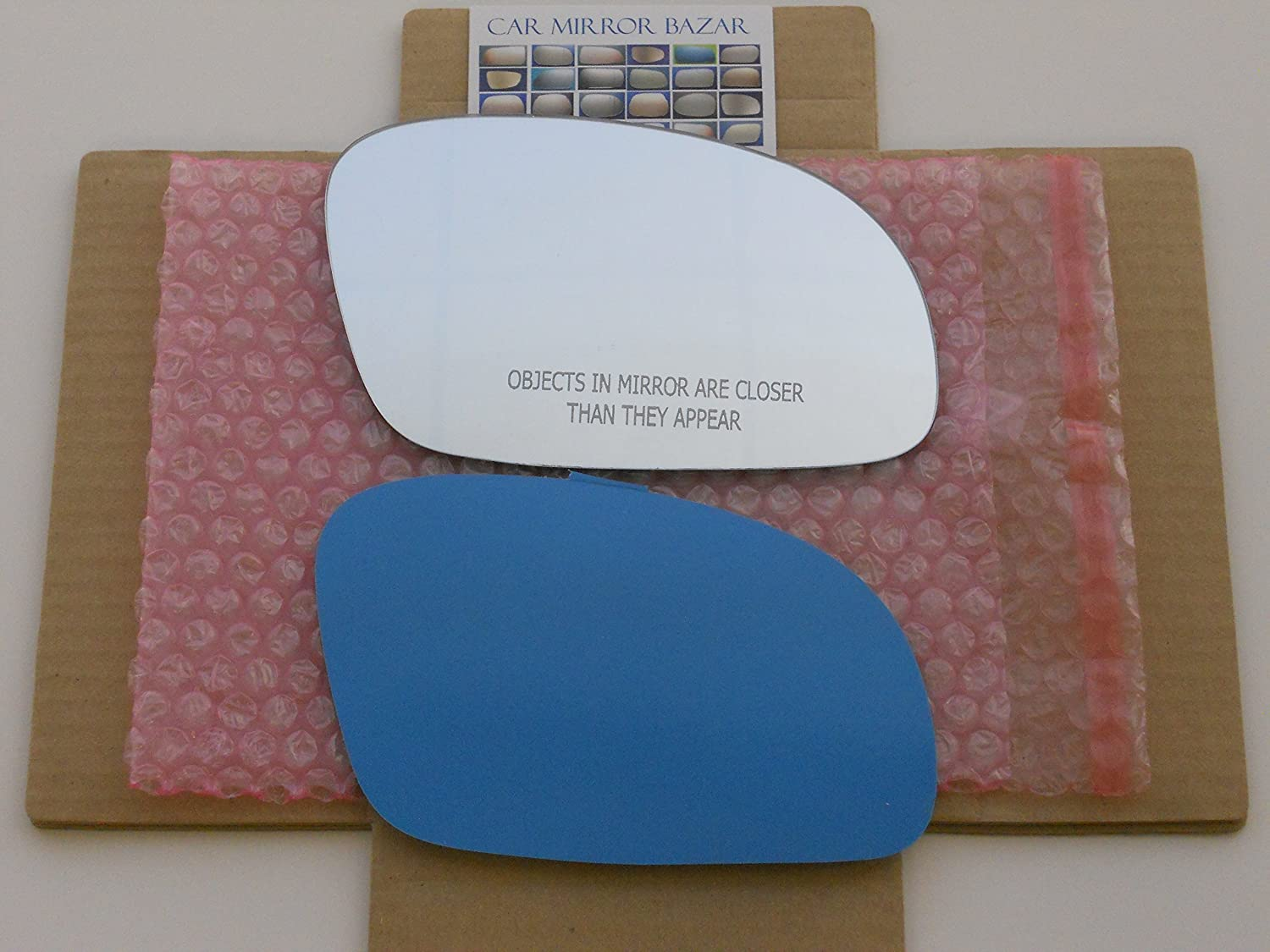 New Replacement Mirror Glass with FULL SIZE ADHESIVE for 2001-2010 Volkswagen Beetle Passenger Side View Right RH