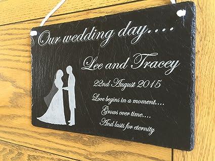 Hermoso personalizado pizarra regalo - ideal para boda, San ...