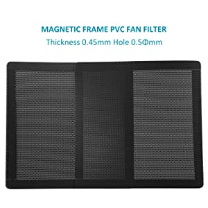 120mm Fan Filter - 120mm 4.72inch Magnetic Frame PVC PC Computer Case Fan Dust Mesh Cover Grills Black 5-Pack (Color: 120*120mm 5PACK, Tamaño: 120*120mm 5PACK)