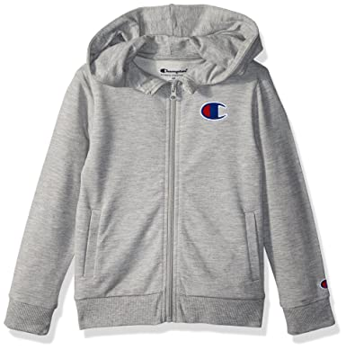 5fedfab31fa5fa Amazon.com: Champion Little Heritage Girls French Terry Logo Hoodie:  Clothing