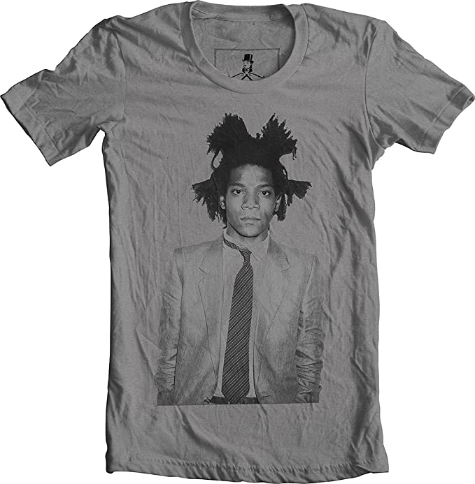 Jean Michel Basquiat Art Fashion Unisex T-Shirt (Medium, Gray) - Gift ideas for artists. gifts for artists who draw. gifts for artists amazon.  gifts for drawing artists. gifts for teenage artists. gifts for professional artists. gifts for artsy friends. best gifts for artists 2018. drawing gifts for adults. gifts for artists who paint.  special gifts for artists. gifts for professional painters. art gifts for her. gifts for art lovers.