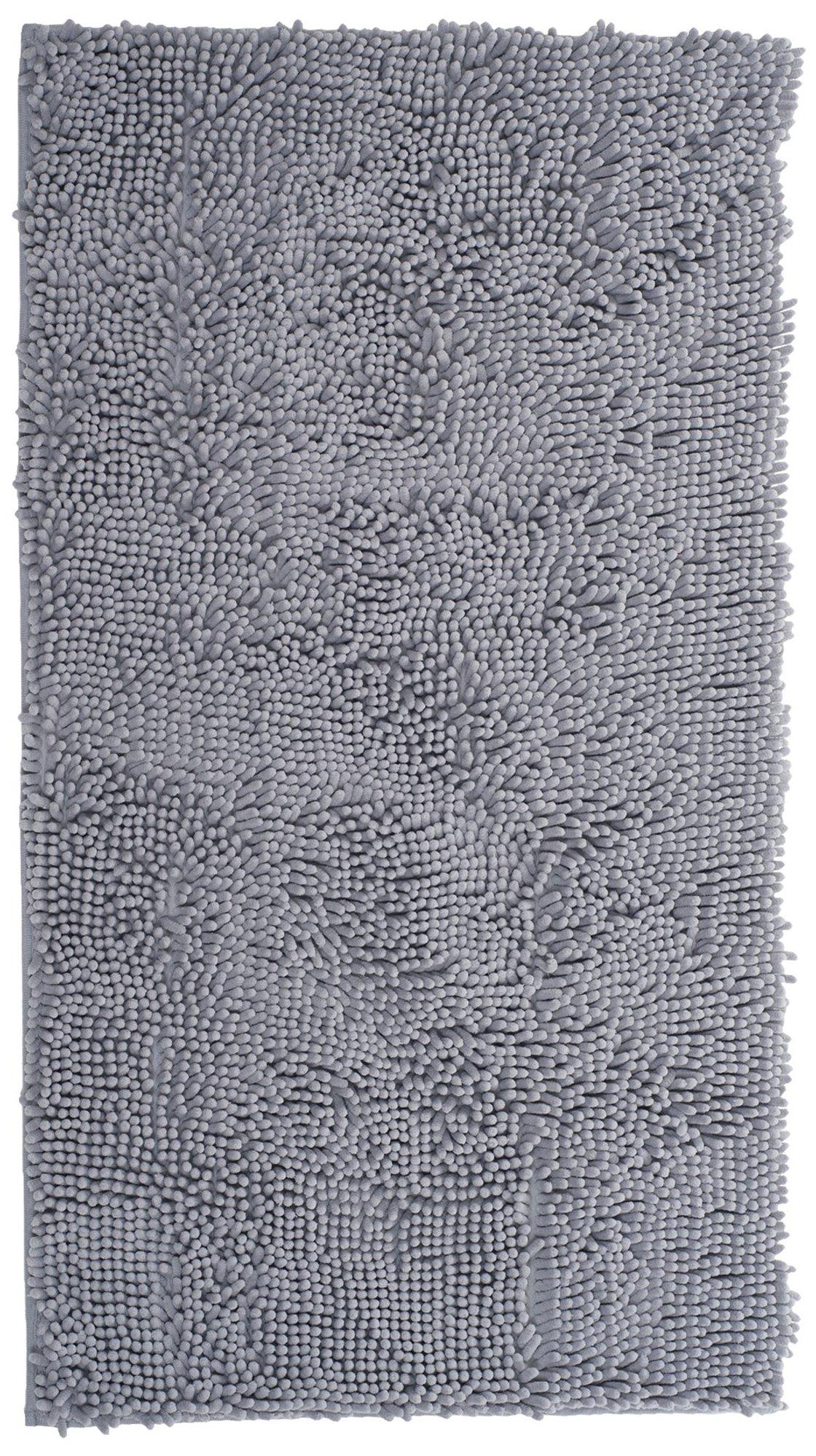 Lavish Home High Pile Shag Rug Carpet, 21 x 36, Grey