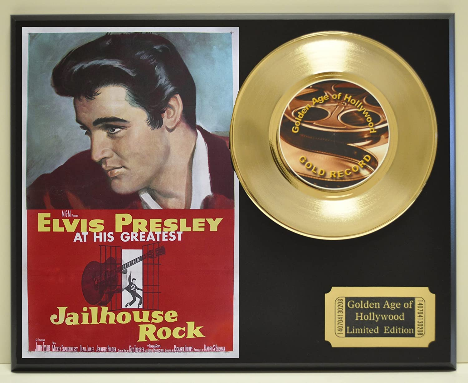 "B00E68JH1K Elvis Presley in""Jailhouse Rock"", Limited Edition 45 Display. Only 500 made. Limited quanities. FREE US SHIPPING 91RzUATc19L.SL1500_"