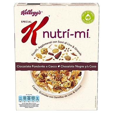 Kelloggs Cereales Special K Nutri-Mi Chocolate Negro y Coco - 2 Paquetes de 330