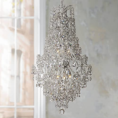Marilyn Chrome Crystal Pendant Chandelier 18 1 4 Wide Modern 5-Light Fixture for Dining Room House Foyer Kitchen Island Entryway Bedroom Living Room – Vienna Full Spectrum