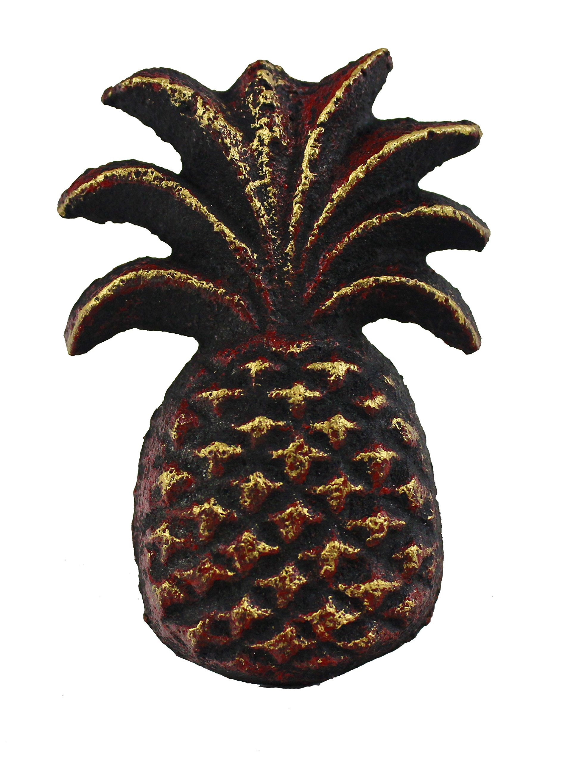 "2""H Bronze Finish Cast Iron Pineapple Drawer Knob Set of 8 by Nautical Tropical Imports"