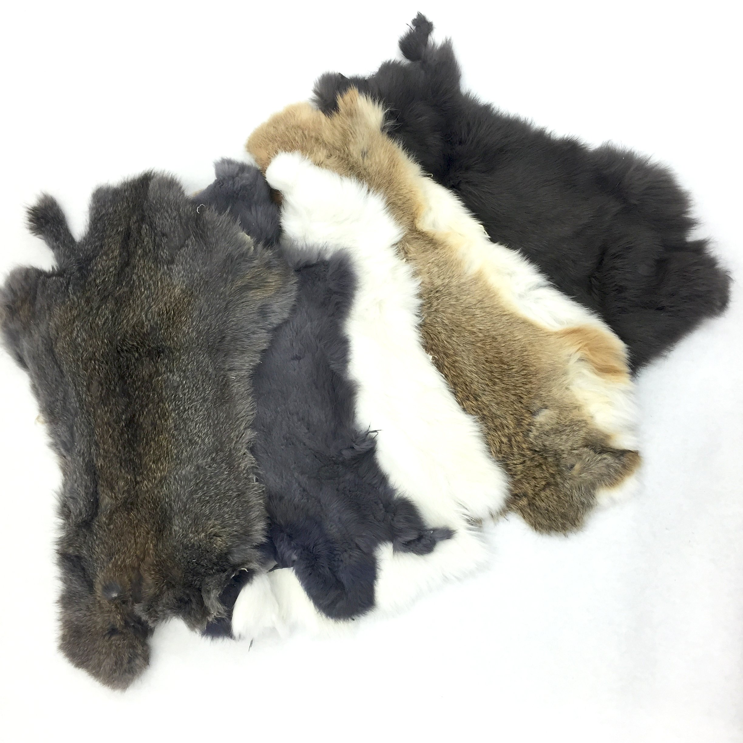 Assorted Bulk Craft Grade Rabbit Pelts (5 Pack) by Cinema Leather (Image #1)