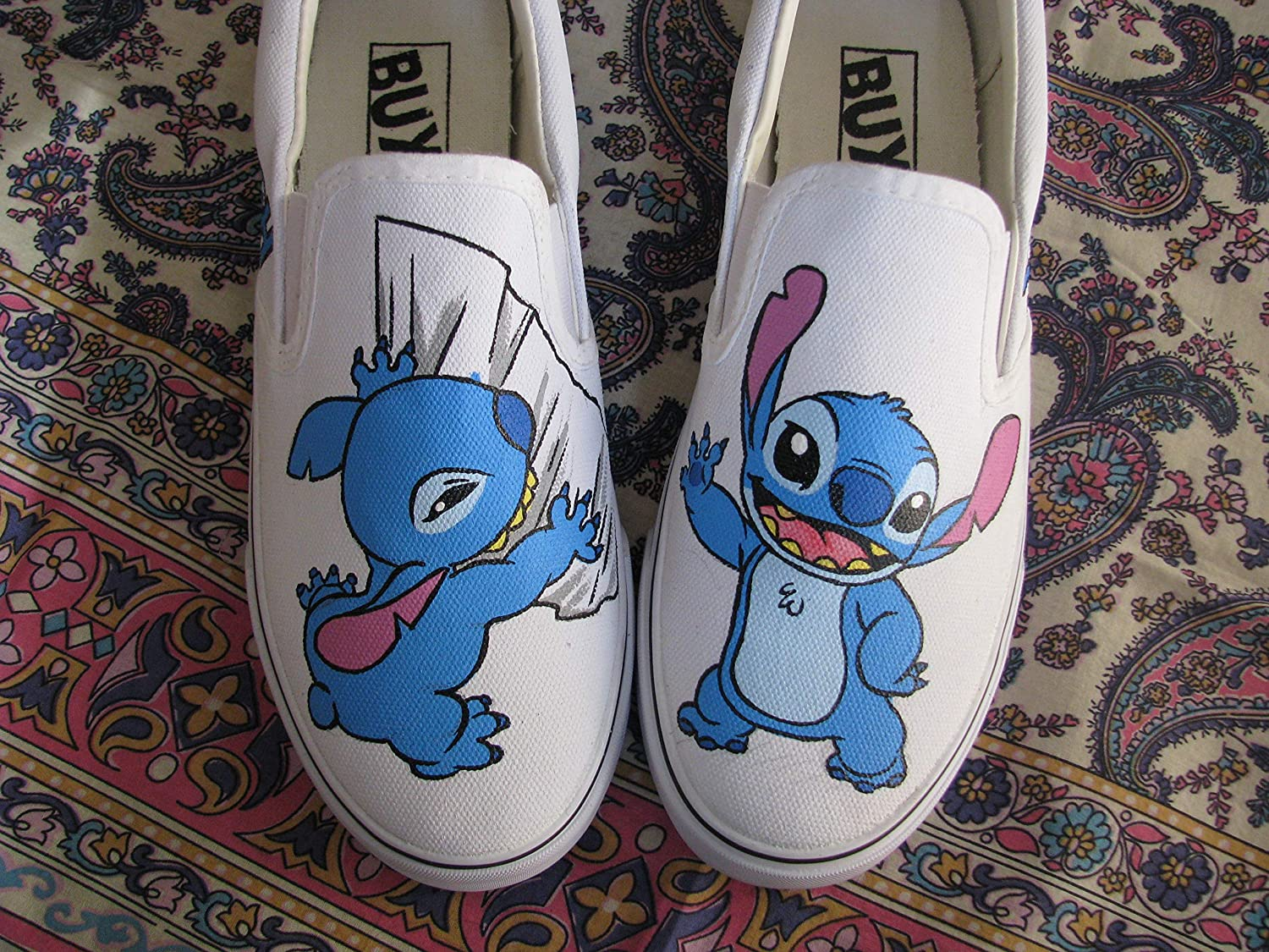 Disney Stitch Shoes Hand Painted Anime
