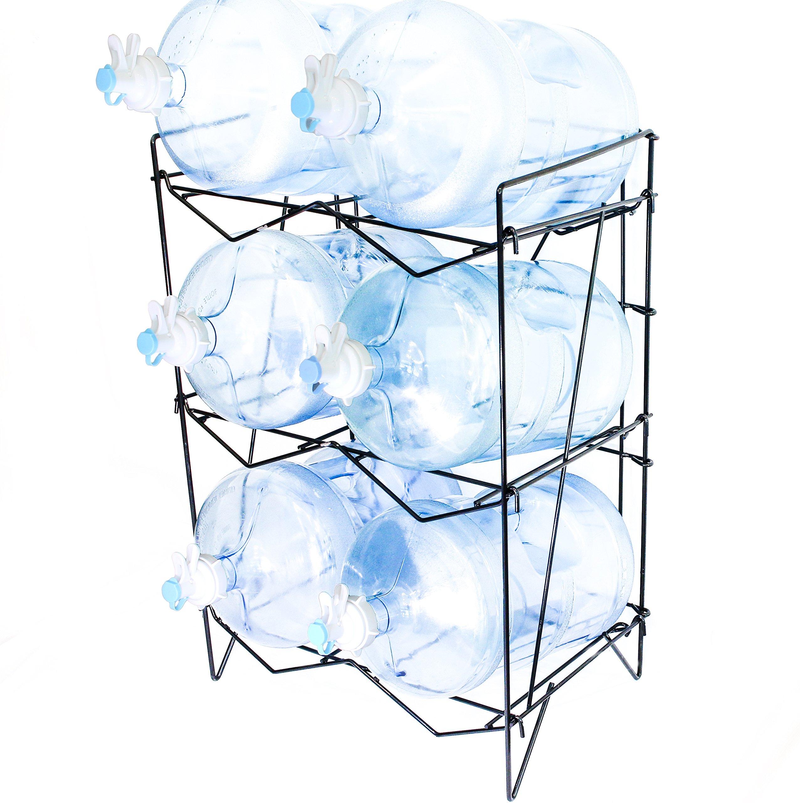 Water Bottle Storage: 5 Gallon Water Bottle Rack Holder Durable Stainless Steel