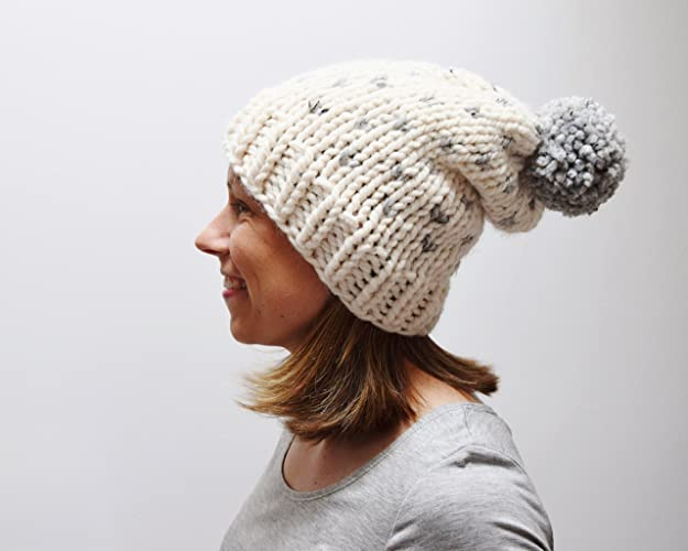 65d7c7af5ba Image Unavailable. Image not available for. Color  Knit Slouchy Fair Isle  Beanie With Pom ...