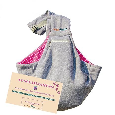 740568efe Pet Sling Carrier Dog Bag | Adjustable Strap and Pocket | Reversible and  Hands-Free