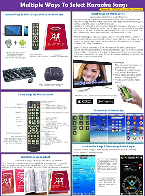 5TB HDD, 100K Chinese+English Karaoke Songs, Android HDD Karaoke  Player/Jukebox,Cloud Download,ECHO Mixing,DVD Driver  Remote  Contoller,Youtube songs