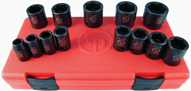 Chicago Pneumatic SS4114 1//2 Drive 14 Piece Metric Impact Socket Set