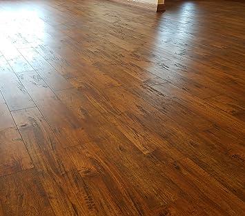 4-Colors Turtle Bay Floors Waterproof Click WPC Flooring Sample, Brera Crafted Maple High-End Floating Flooring