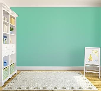 Caribbean Blue Tempaint Removable Peel And Stick Wallpaper Amazon Co Uk Lighting