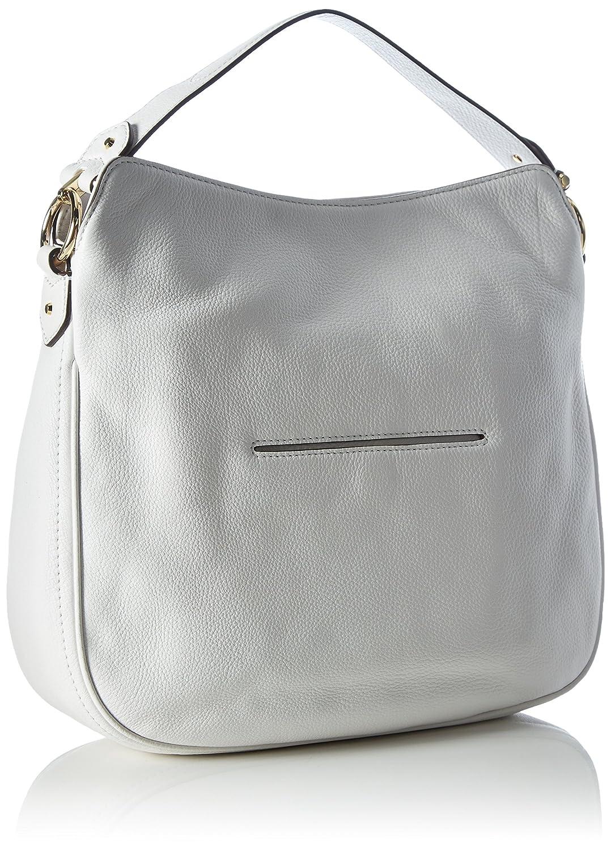 43dff009c1 Amazon.com  MICHAEL Michael Kors Heidi Medium Leather Shoulder Bag (Optic  White)  Shoes