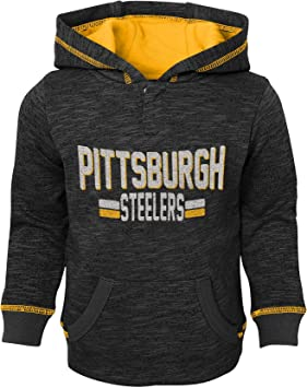 Outerstuff NFL Football Youth Boys Pittsburgh Steelers 1//4 Zip Performance Top