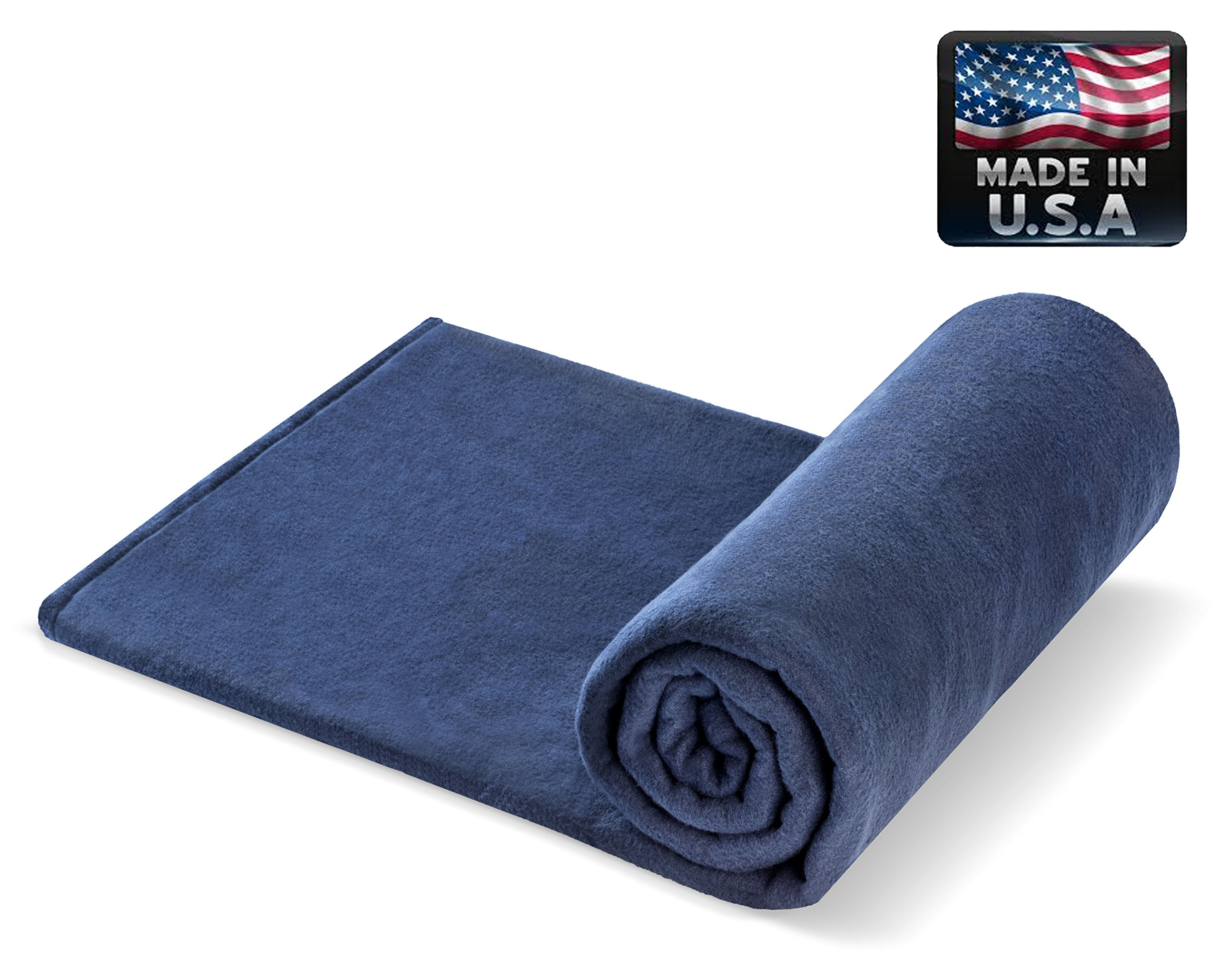 Melissa's Weighted Blankets MADE IN THE USA (5lbs Child Size) NAVY 10 varieties of Fleece and Flannel combinations available in 27 different size and weight options Small 48'' x30''
