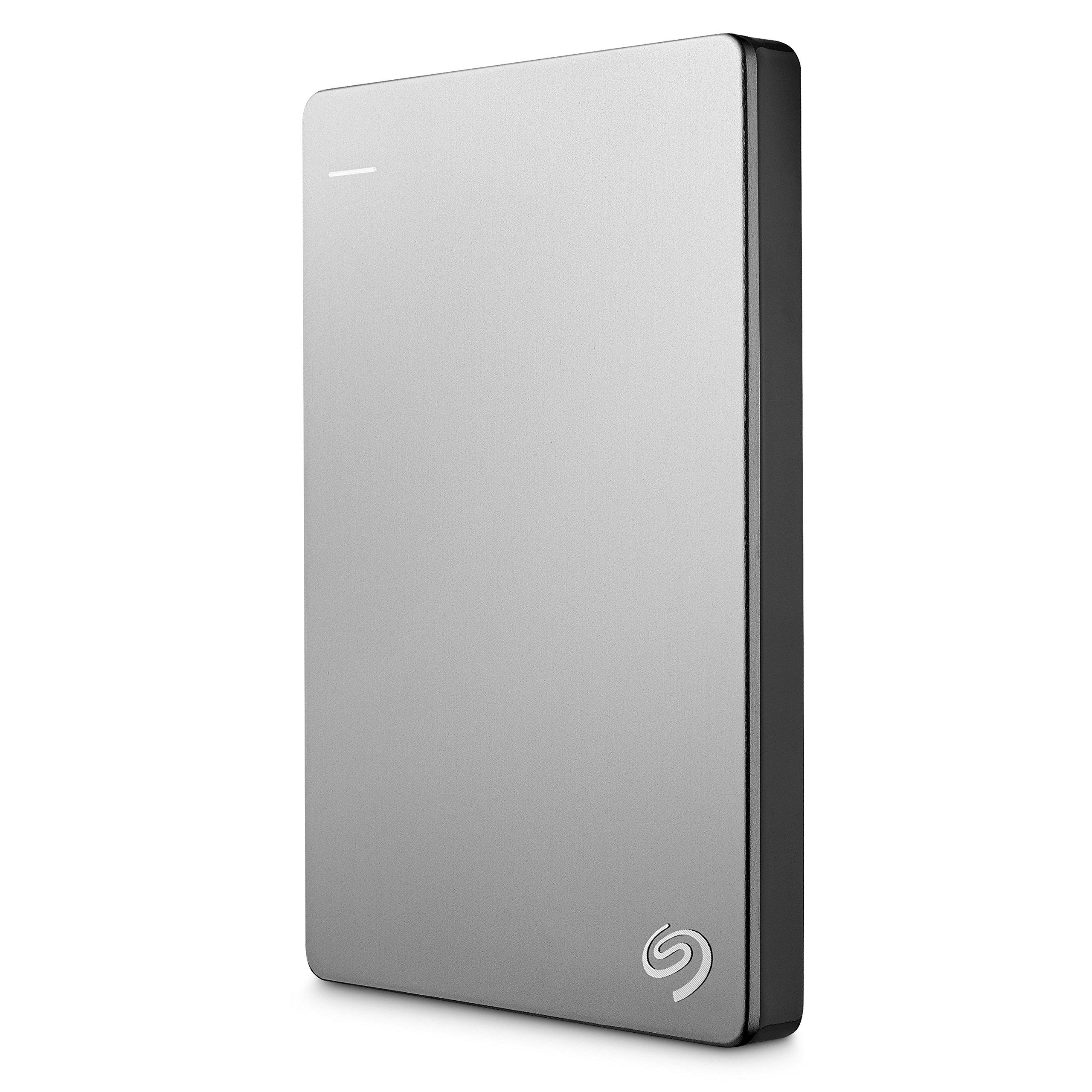 Seagate Backup Plus Slim 1TB Portable External Hard Drive for Mac USB 3.0 (STDS1000100) by Seagate